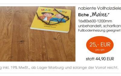 """Nabiente Vollholzdiele Eiche """"Mainz"""""""