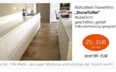 """Naturstein Travertino """"Stone Trüffel"""""""