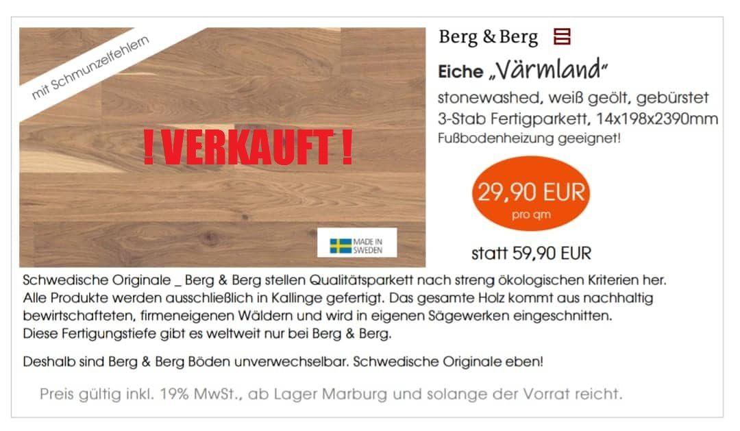 """Berg & Berg – Eiche """"Värmland"""" mit Schmunzelfehlern"""