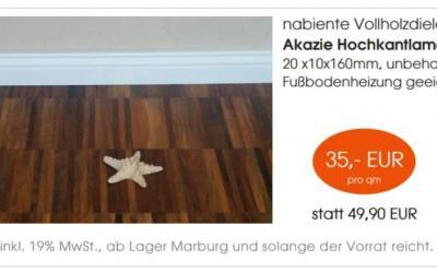 Akazie Hochkantlamelle